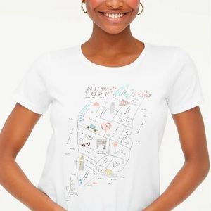 J. Crew NYC Map Collectors Tee NWT Size Small